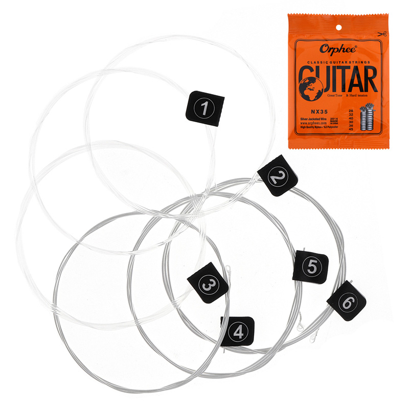 SEWS-Orphee 6pcs/set Guitar Strings Conventional Classical Guitar String Series E/B/G/D/A/E Use High-quality Nylon Wire Feel M