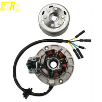 Motorcycle Bike 6 Coil Magneto Stator Magneto Rotor for YX 140 150 160CC Engine