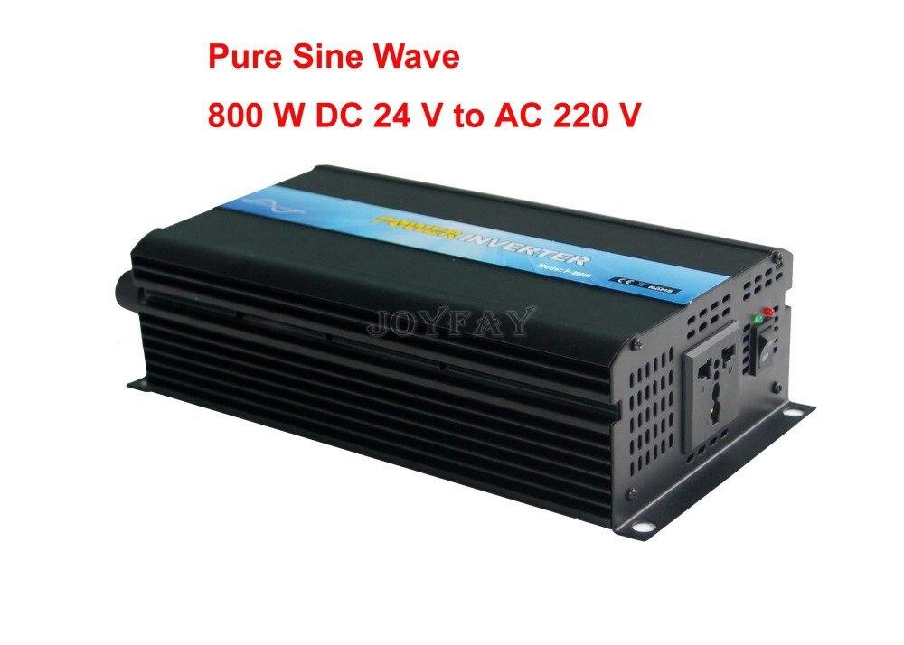 цена на High Quality 800W Pure Sine Wave DC 24V to AC 220V Power Inverter One Year Warranty