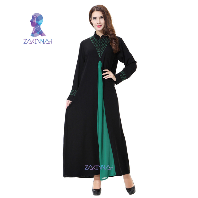 Zakiyyah Casual plus size Abaya Muslim Dress Women new islamic clothing Robes  Arab Adult Clothes Turkey 3c5c1931a