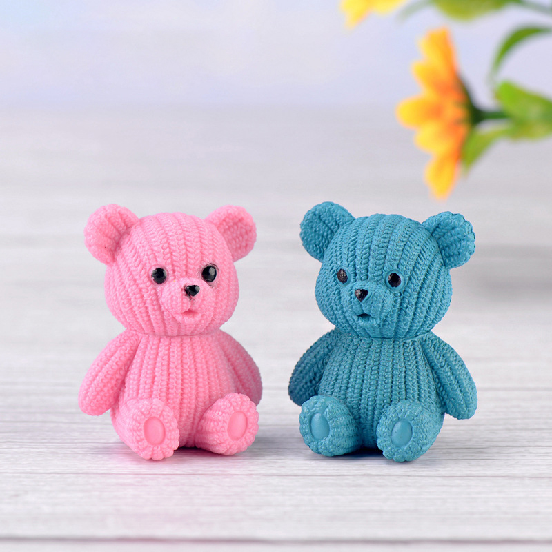 Miniature Bear DIY Doll House Accessories Mini Bear Decoration Dollhouse Toys For Children Kids Girls Birthday Gift