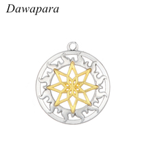 Dawapara Slavic Alloy Charm Pendant Alatyr Shield Solar Circle Amulet and Talisman Accessories Metal Tags for Jewelry