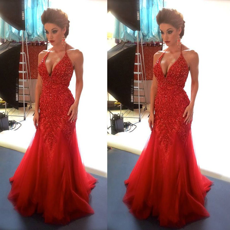 High Quality Red Halter Prom Dress Promotion-Shop for High Quality ...
