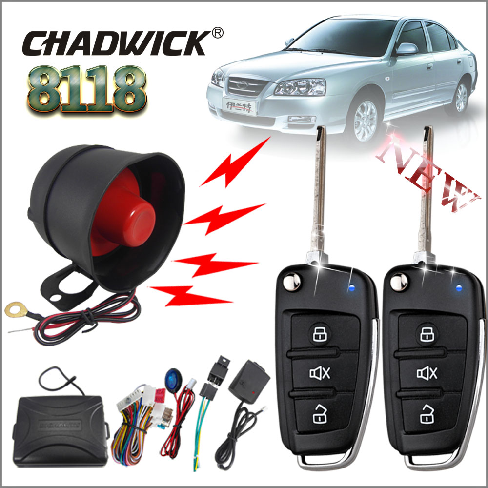 One Way Car Security Alarm System With Flip Out Style Keys Remote Controls Vw