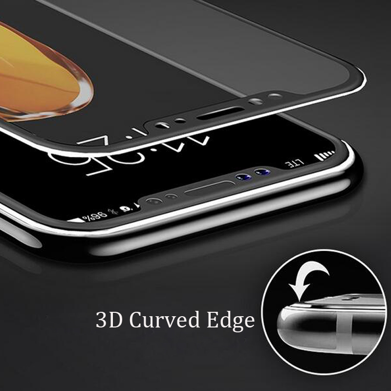 Image 5 - 3D Curved Edge Front+Back Tempered Glass For iPhone X Full Screen Protection Replacement Case Cover for Apple iPhone XS Max XR-in Phone Screen Protectors from Cellphones & Telecommunications