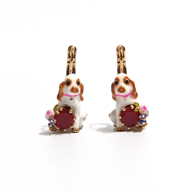 Les Nereide Fashion Jewelry Clip Earrings For Women Dog Gem Luxurious Party Accessories 2017 Best Selling Wholesale