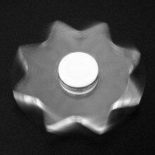 2017ใสAcrylicLeisureปริศนาความบันเทิงปินเนอร์อยู่ไม่สุขสมาธิสั้นนิ้วมือปั่นโฟกัสของเล่นEDCนิ้วGyro A B0577