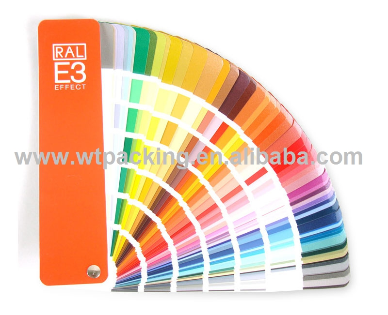 German RAL color card E3 solid color / metal color 490 kinds of color for coating industry ral k7 paint color page chip card brochure