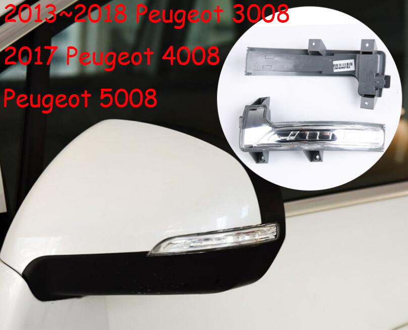 2pcs <font><b>set</b></font> <font><b>LED</b></font> <font><b>Mirror</b></font> <font><b>lamp</b></font> car accessories 2013~2018 Peugeot3008,2017year 4008 5008 <font><b>mirror</b></font> light DRL daytime light image