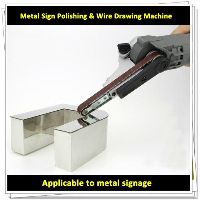 Portatile Bordo Strumento di Lucidatura per il Metallo Lettere di Scanalatura AC 220V