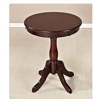 цена American solid wood balcony small coffee table simple side sofa table living room mini round table. онлайн в 2017 году