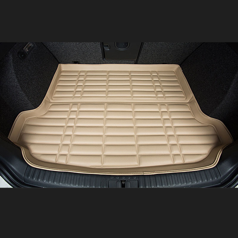Fit Car Custom Trunk Mats Cargo Liner for Audi A4 A6 Q3 Q5 Car-styling 5D Carpet Rugs fit car custom trunk mats cargo liner for nissan livina sylphy teana qashqai car styling 5d carpet rugs