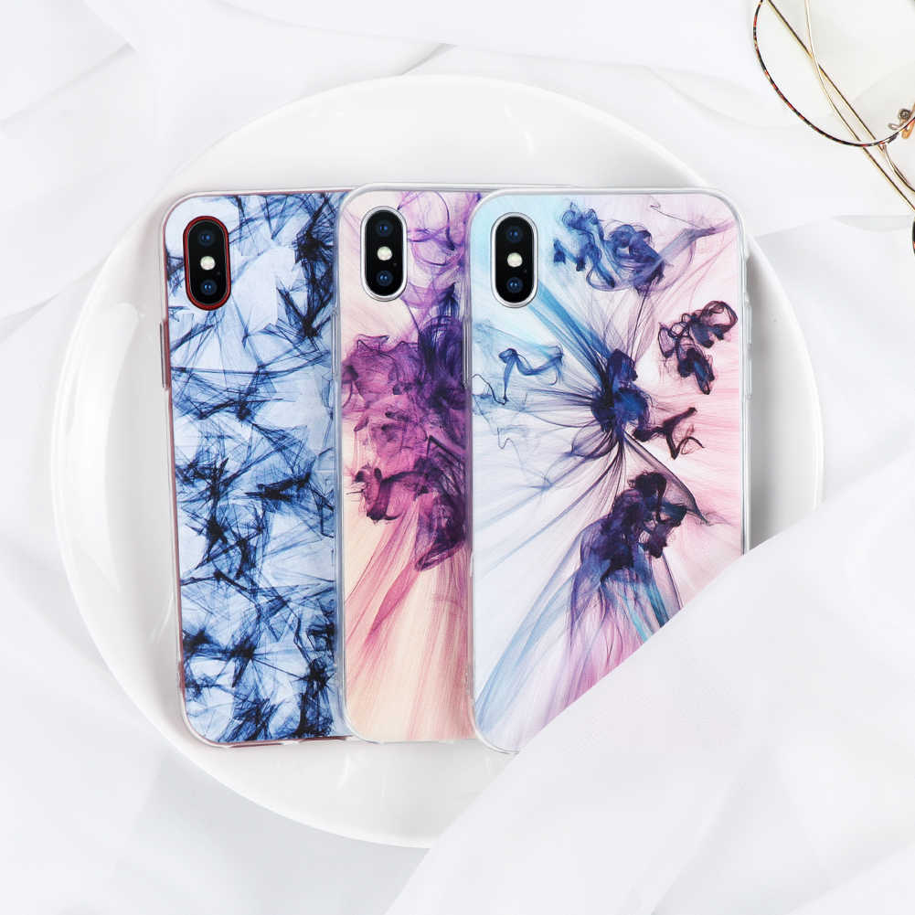 Smoke bags Soft for iPhone 4 5 5S SE 5C 6 6S 7 8 Plus X Case TPU for Xiaomi Redmi 3S 4A Mi A1 Mi 5X Note 3 4 4X 5A 5 Plus Cover