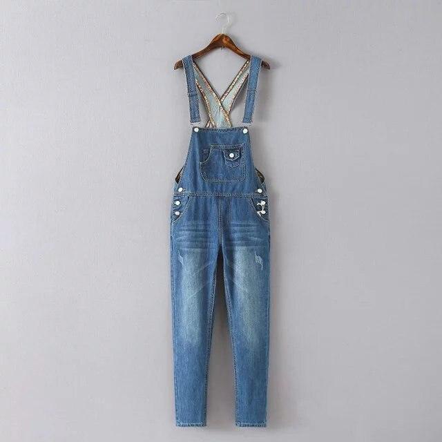 2016 летом новый Европейский уличный стиль случайные Мыть Джинсовой ремень комбинезон женские ноги fit хлопок джинсовые брюки женщина
