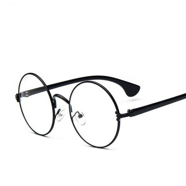 1800ec2b9329 Decoration Plain Mirror Europe Men women Round Retro Metal Eyeglasses  Frames Korean Myopia Glasses Frame Optical Circle