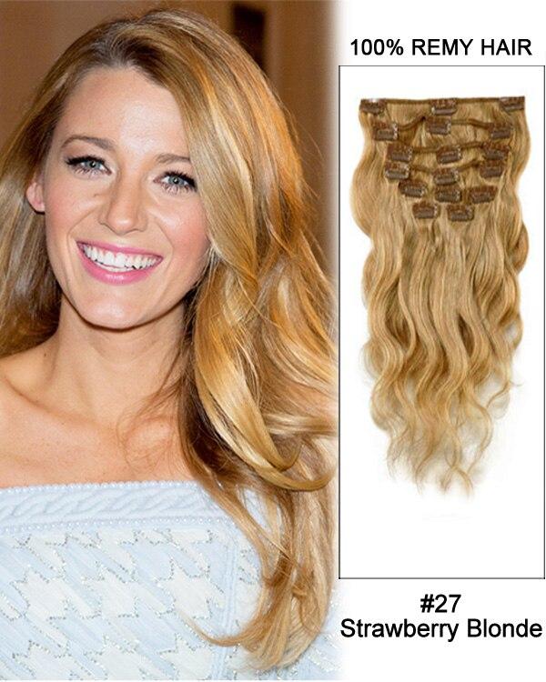 Clip In Human Hair Extensions Remy Virgin European Hair Clip In Hair