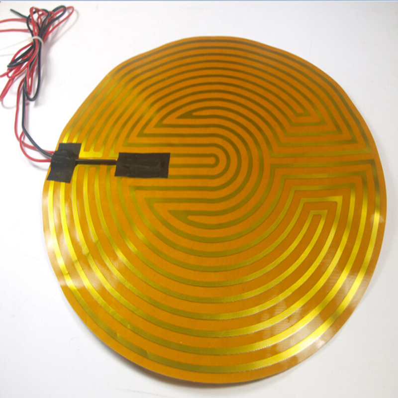 wholesale 3D printer round heating bed plate 12V120W diameter330mm for reprap Kossel Delta large buid size newest kossel k280 delta 3d printer 24v 400w power with auto level and heat bed two rolls of filament gift