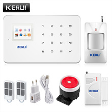 Kerui g18 android/ios app sterowania bezprzewodowego bezpieczeństwa gsm system alarmowy w domu bezprzewodowy czujnik magnetyczny okna + pir motion detektor