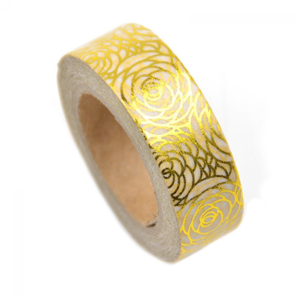 1PC New 15mmX10m Lychee Japanese Gold Foil Printing Washi Tape ...