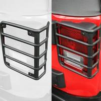 1Pair Metal Rear Tail Light Guards Covers For 07 17 Jeep Wrangler JK JKU Back Lamps