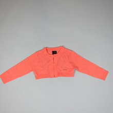 WINTER 2016 High Quality Kids Cardigan To Match Dress Outcoat BOW APPLICATION Long Sleeve RED ROSE Sweater Girls Clothes