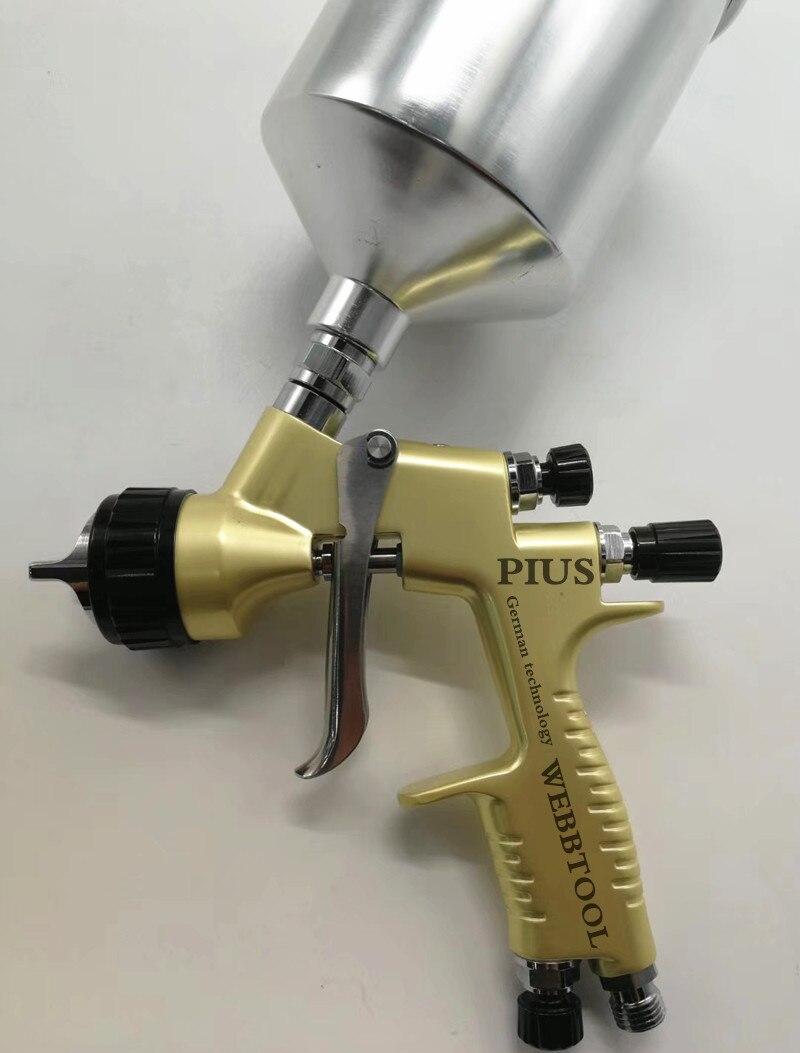 PIUS high atomizer spray gun 1.3mm high quality upper pot special durable paint spraying vehicle first choice RP SPRAY GUN цена