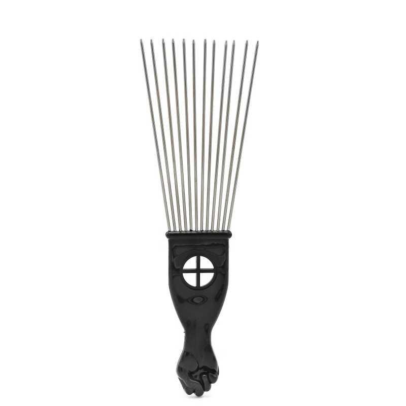 Sıcak Saç Salon Kullanımı Siyah Metal Pick Tarak Saç Tarak Saç Tarak Kuaförlük Şekillendirici Aracı Yüksek Kaliteli Kafa Derisi Masajı