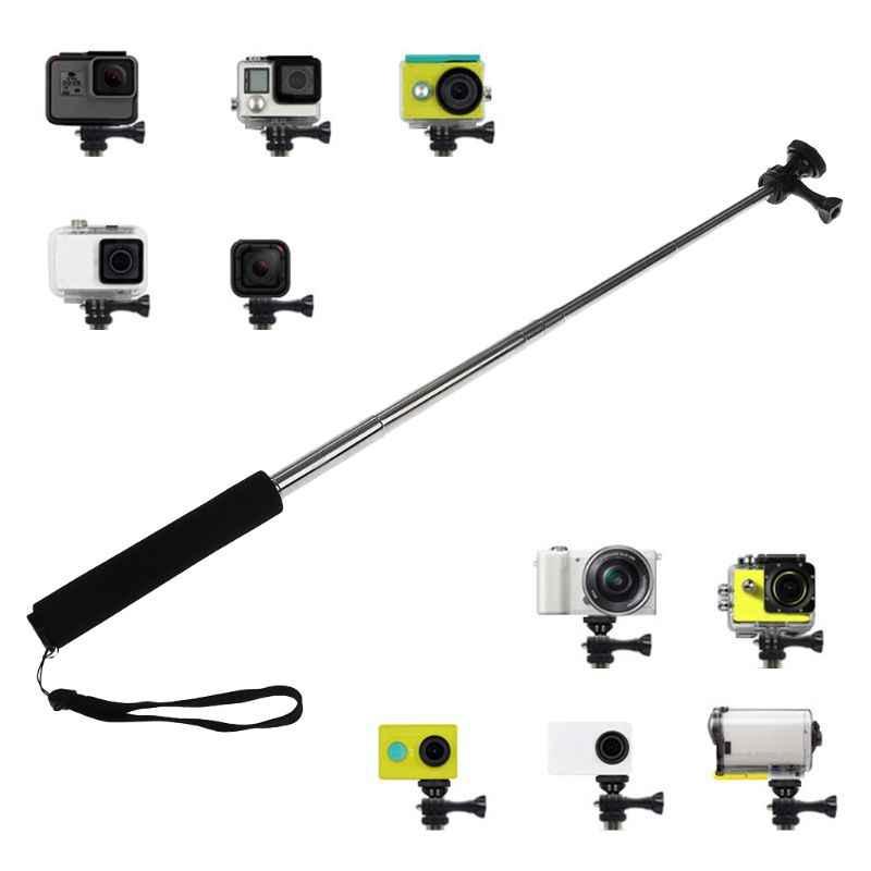 2018 Berkualitas Tinggi Selfie Handheld Tongkat Disesuaikan Telescoping Monopod Kamera untuk GOPRO HERO 6/5