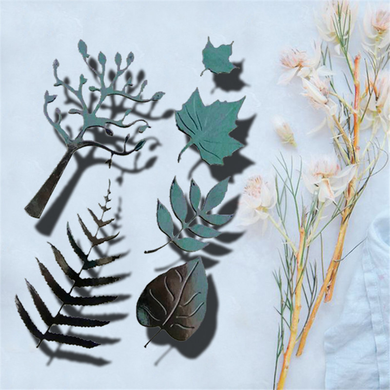 Leaves Metal Die Cutting Scrapbooking Embossing Dies Cut Stencils Decorative Cards DIY album Card Paper Card Maker irregular flowers metal die cutting scrapbooking embossing dies cut stencils decorative cards diy album card paper card maker