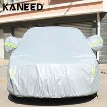 Полный Обложка Автомобилей S/M/L/XL/XXL Открытый Универсальный Anti-Dust Непроницаемый Для Солнечных Лучей 2-купе Седан крышка автомобиля с Предупреждающие Полосы
