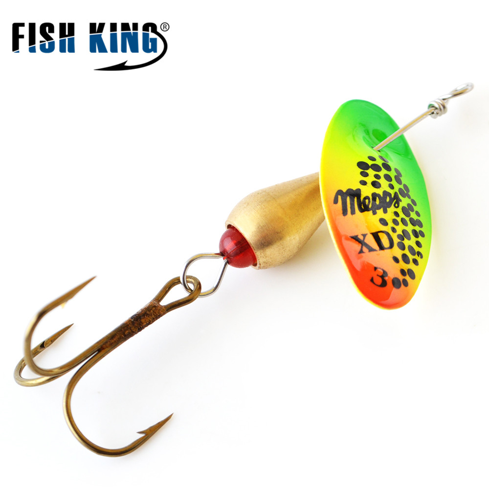 MEPPS XD High Frequency Vibration 1PC 3 Colors 1# 2# 3#  Mustad on Hooks Fishing Lure For  Pond  Ocean Rock Fshing mepps syclops 3 silver red