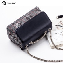 ZOOLER BRAND quality Genuine Leather bag bags Handbags women Shoulder bags cowhide patchwork women messenger bag 2017 new#6986