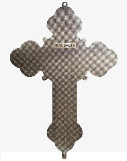 12 apôtres croix INRI chrétien jésus Emmanuel catholique saint ornement Jesu Crucifix agneau de dieu tenture murale décor environ 32.5CM - 5