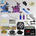 OPHIR Pro Complete Tattoo Kit Tattoo Body Art Accessory 2 Tattoo Machine Gun Power Supply 7 Colors Inks Needles Tips Grips_TA068