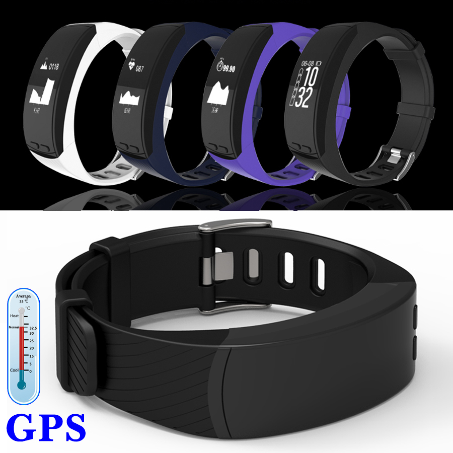 GPS Tracker Thermometer Altitude Air Pressure Monitor Smart Fitness Bracelet Heart Rate Smart Band Wristband Pedometer