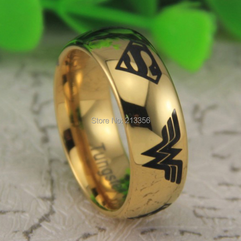 Popular Superman Wonder Woman Wedding Rings Buy Cheap Superman