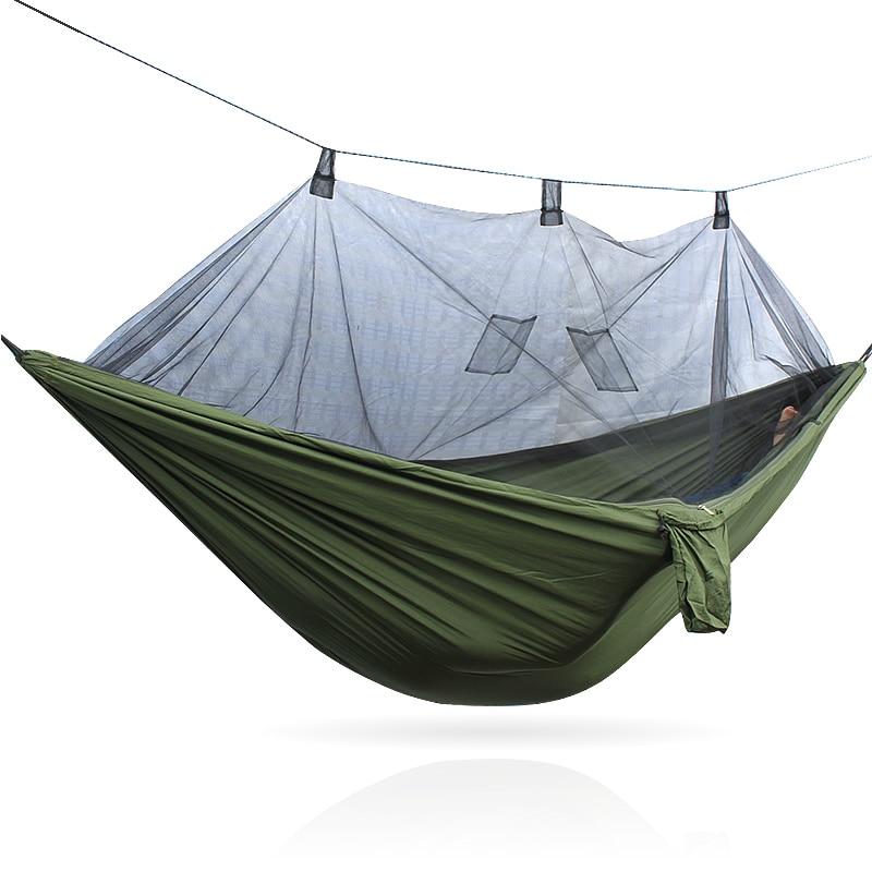 Moustiquaire Armée Hamac Moustiquaire Camping Hamaca Hammack Ultra-Léger Camping En Plein Air Chasse Moustique Net