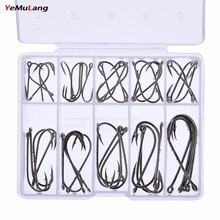 YeMuLang 50 Pcs / Field 1#-10# Excessive Carbon Metal Fishing Hook Needles Barbed Fishing Hook For Fishing Deal with Equipment