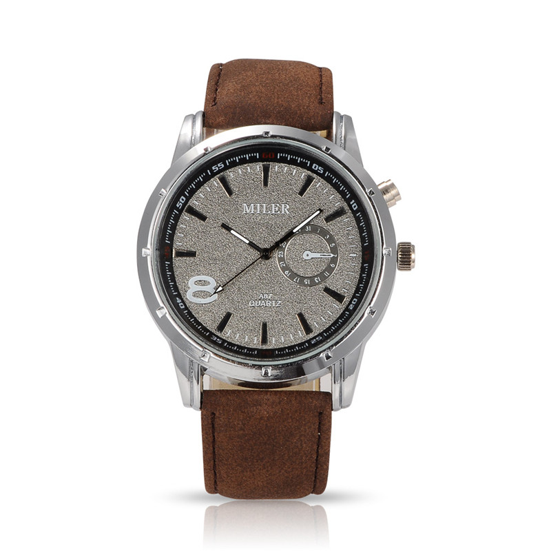 Men Casual Watch Miler Brand Fashion Wristwatch Luxury Quartz Watch Cool Male Leather Strap Relogio Relojes