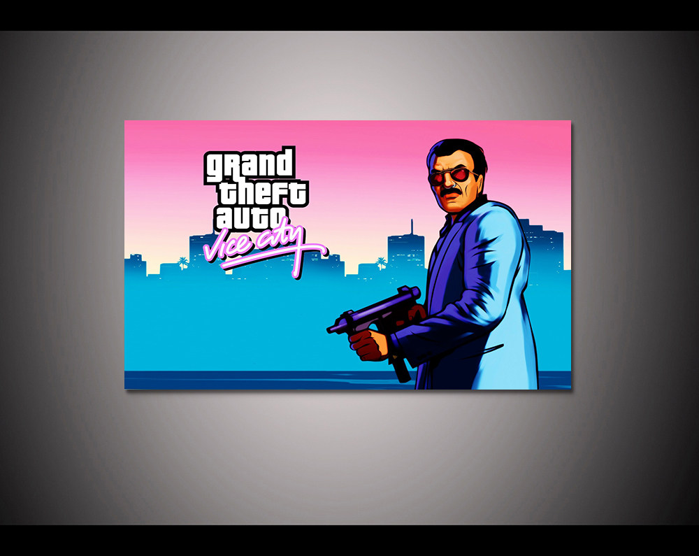 Canvas print painting Grand theft auto gta v 5 Game poster Modern Home Decor Wall art Pi ...