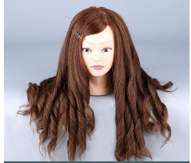 100% Light Brown Natural Hair Mannequin Head Hair Practice Head Dolls Mannequin With Hair