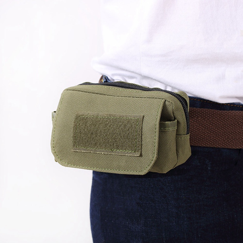 Tactical Utility Pouch Outdoor Pocket Mini Molle Pouch Waist Pack Travel Sports Wear-resistant Travel Bag Phone Bag
