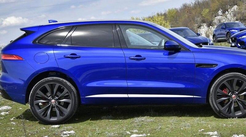 6pcs set For Jaguar F Pace X761 f pace ABS Chrome Car Side Door Body Molding