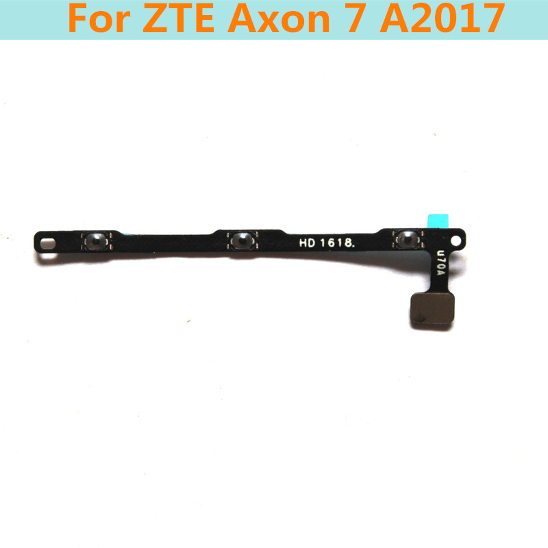 Original Power ON/OFF Button + volume side button key flex cable FPC For ZTE Axon 7 A2017 power switch cable Replacement parts