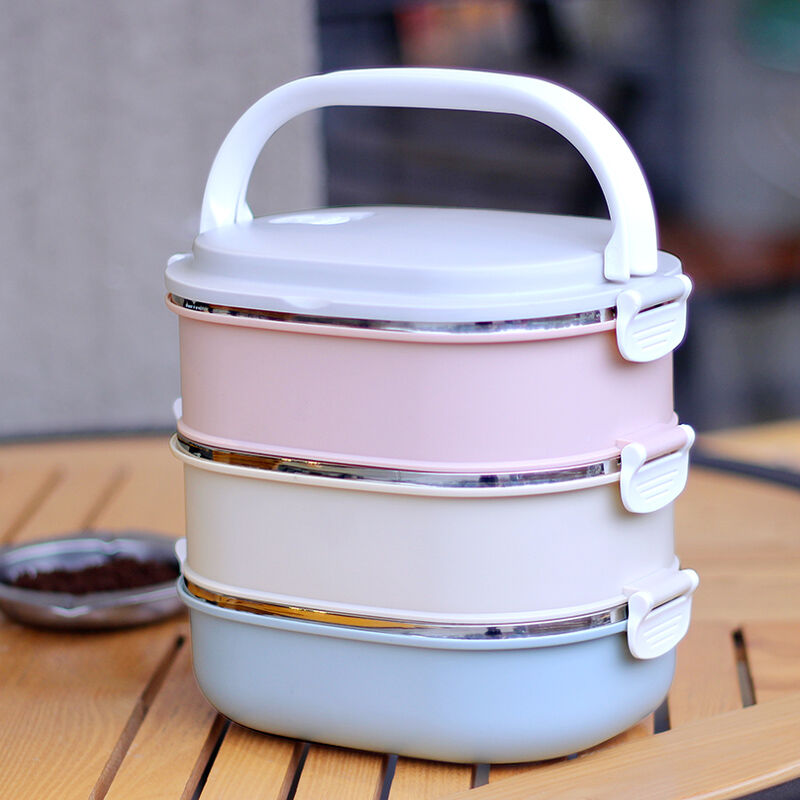3 Layers 304 Stainless Steel Japanese Bento Box Food Container Storage For Kids Picnic School Lunch