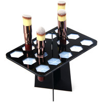 Supporto Per I Pennelli cosmetico Stand Pieghevole Pieghevole Essiccazione Pennelli Trucco Organizzatore Torre Albero Strumento Cremagliera