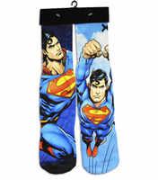3D комикс Бэтмен/Капитан Америка/Супермен Носки мужские и женские высокие носки Длинные носки модные носки chaussettes homme 2018
