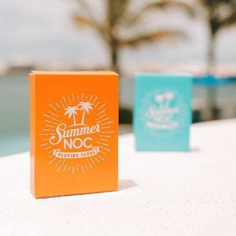 1Pcs NOC Summer V2 Orange Or Sky Blue Color Playing Cards Poker Size Deck USPCC Custom Limited Edition Magic Props Magia Tricks