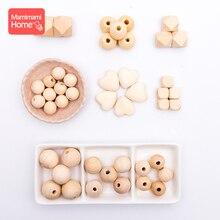 45pc perles en bois bébé dentition faisant sucette chaîne en bois rongeur bricolage artisanat nouveau né dentition bricolage accessoires en bois dentition
