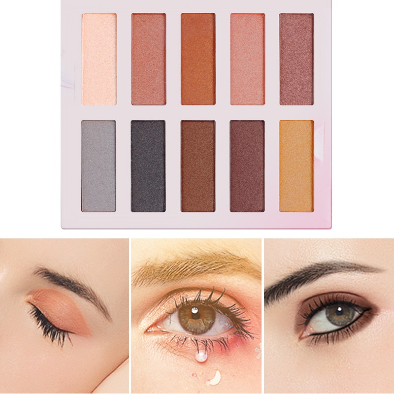 New 10 Color Non Dizzy Eye shadow Palette Makeup Shimmer Shine Make Up Pigments Eye shadow Palette Matte Maquiagem in Eye Shadow from Beauty Health